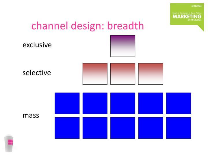 channel design: breadth