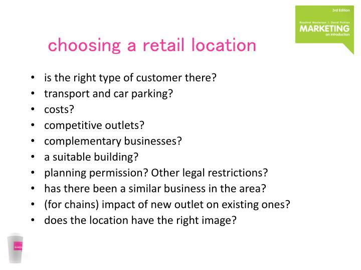 choosing a retail location