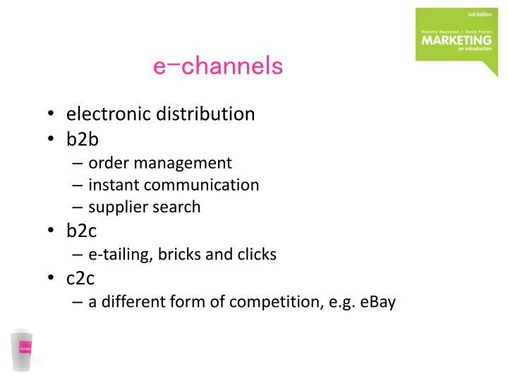 e-channels