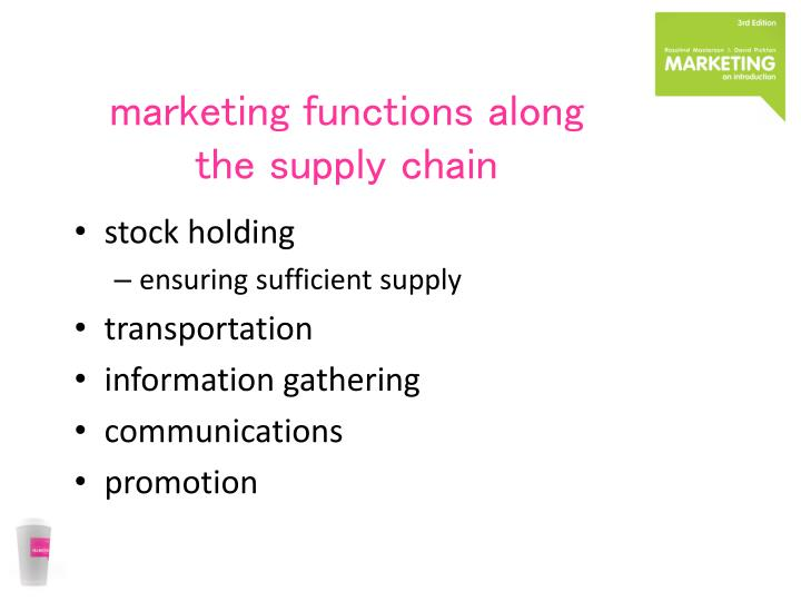 marketing functions along the supply chain