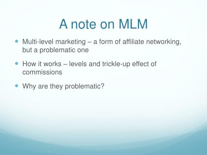 A note on MLM