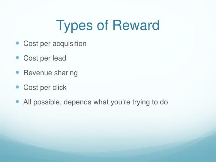 Types of Reward