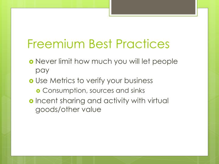 Freemium Best Practices