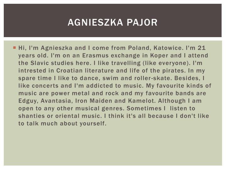 Agnieszka pajor