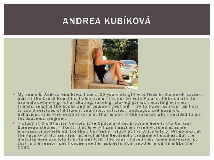 Andrea Kubíková