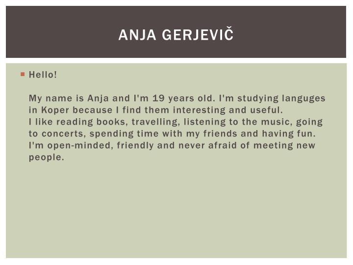 Anja Gerjevič