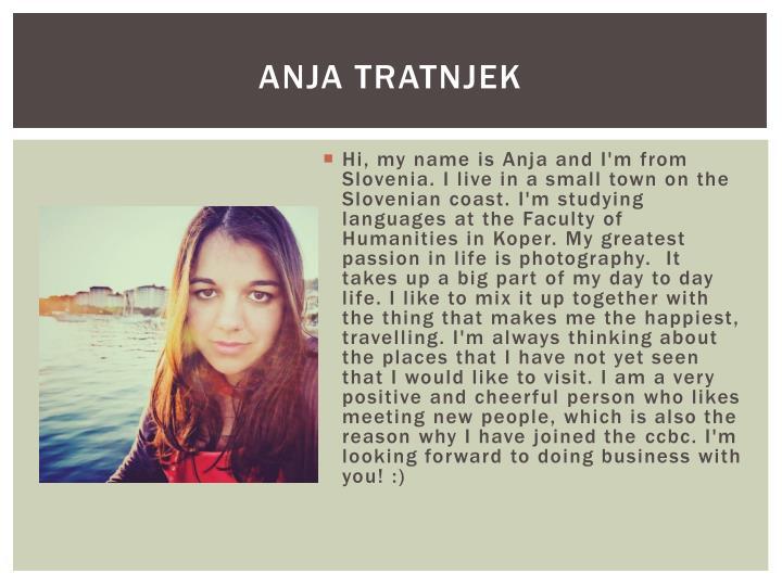 Anja Tratnjek