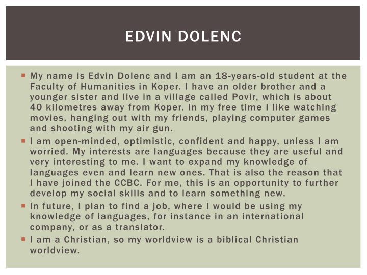 Edvin dolenc