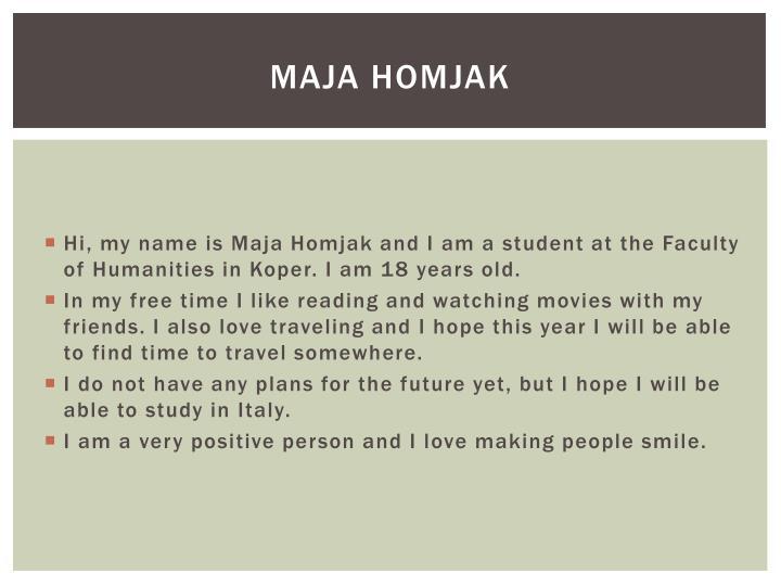 Maja Homjak