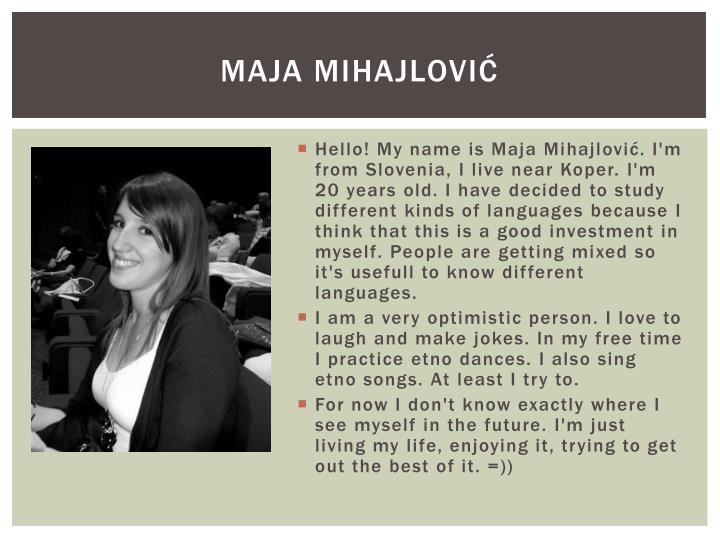 Maja Mihajlović