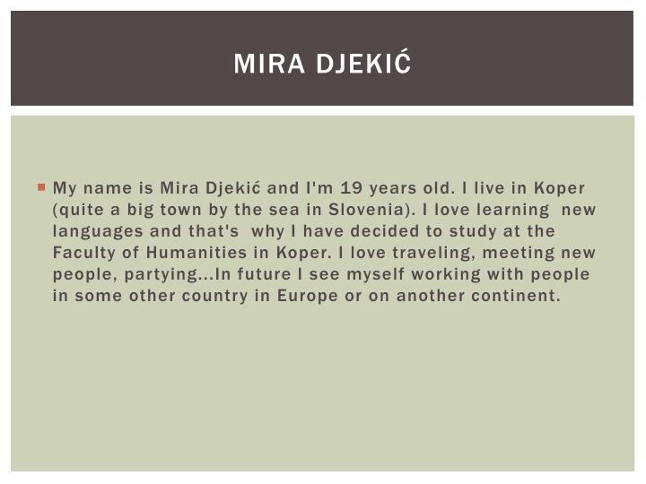 Mira Djekić