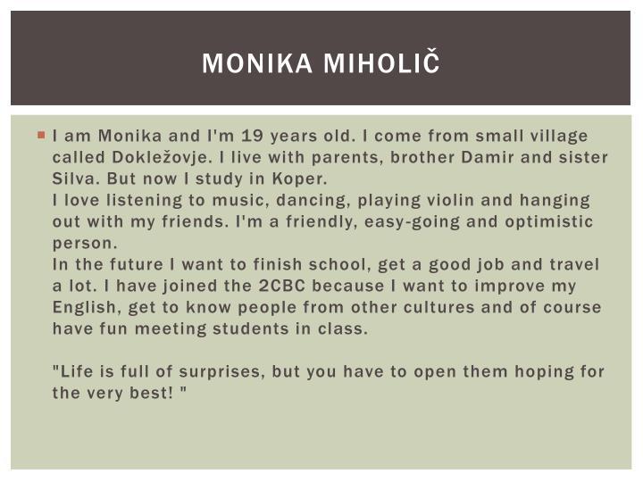 Monika miholič