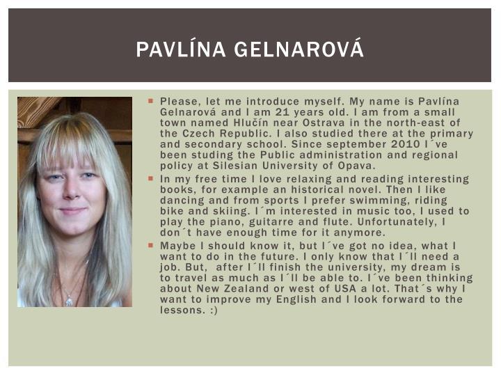 Pavlína Gelnarová