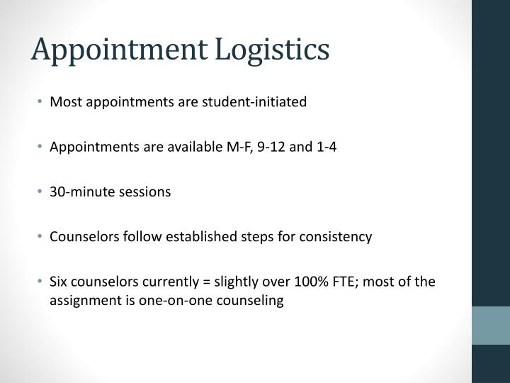 Appointment Logistics
