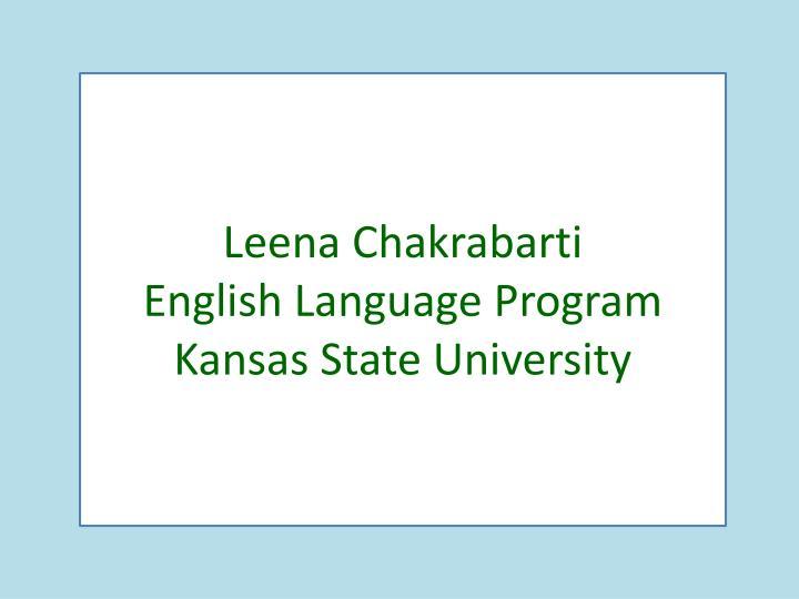 Leena Chakrabarti