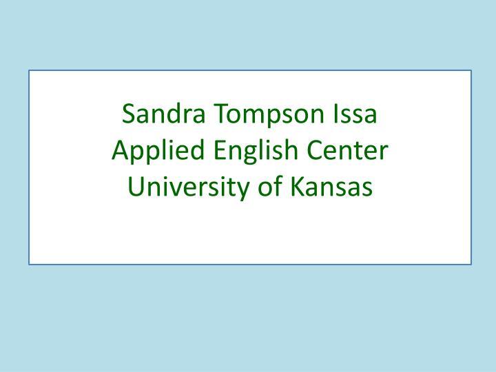 Sandra Tompson Issa