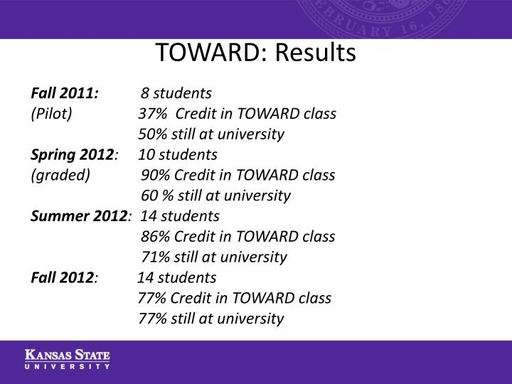 TOWARD: Results