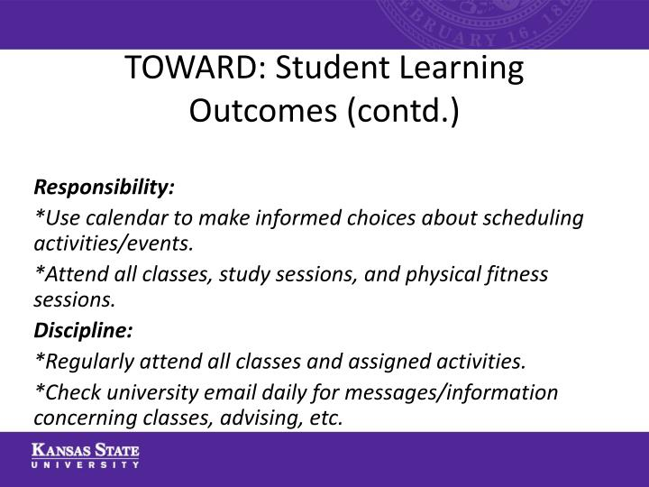 TOWARD: Student Learning
