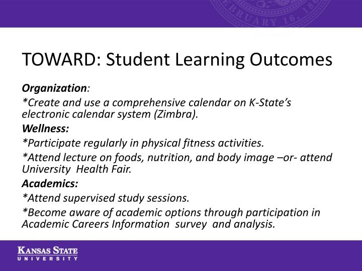 TOWARD: Student Learning Outcomes