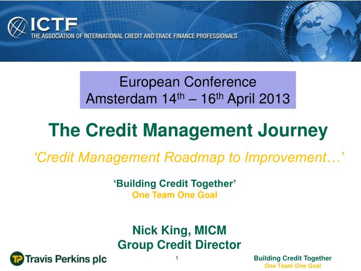 Credit management roadmap to improvement