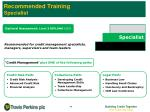 recommended training specialist