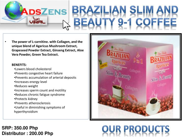 BRAZILIAN Slim and Beauty 9-1 Coffee
