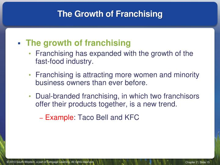 The Growth of Franchising