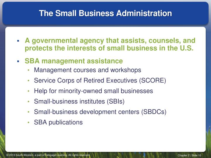 The Small Business Administration