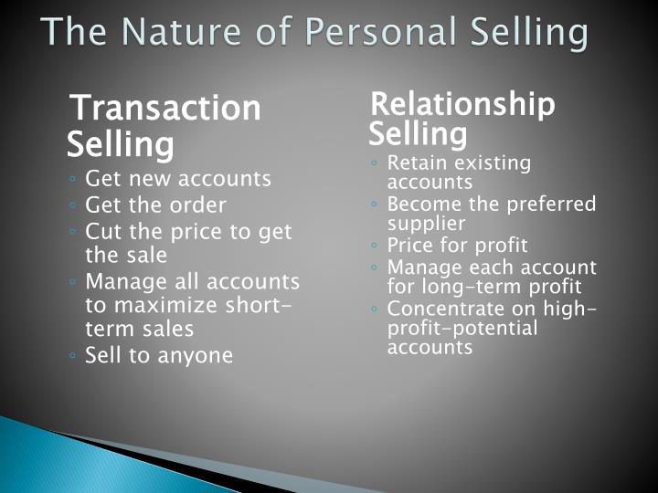 Transaction Selling