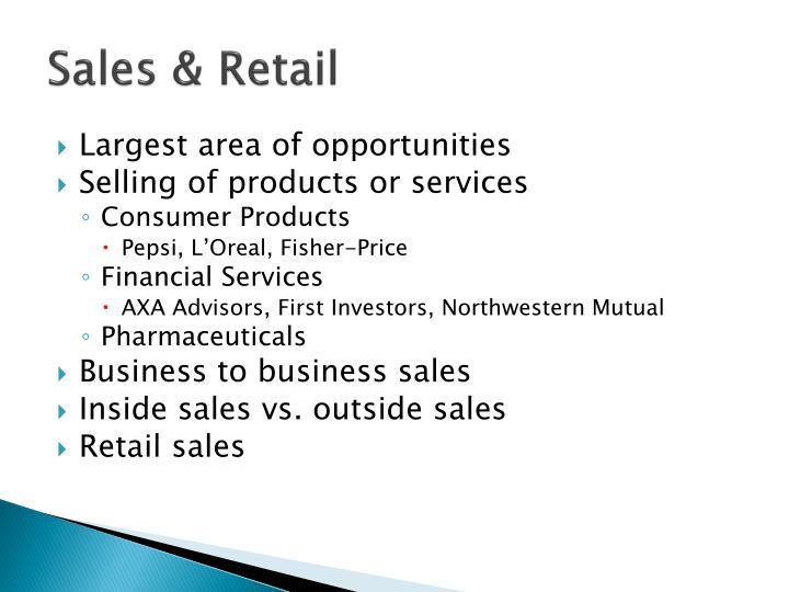 Sales & Retail