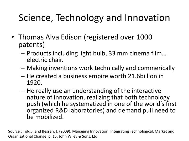 Science, Technology and Innovation