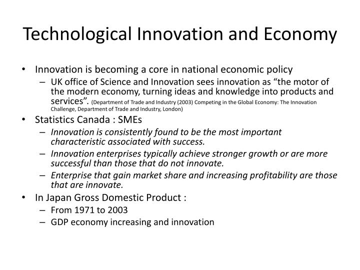 Technological Innovation and Economy