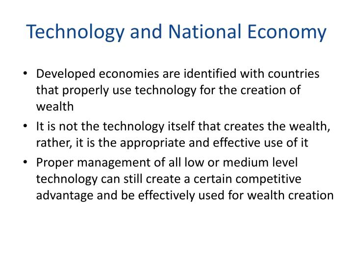 Technology and National Economy
