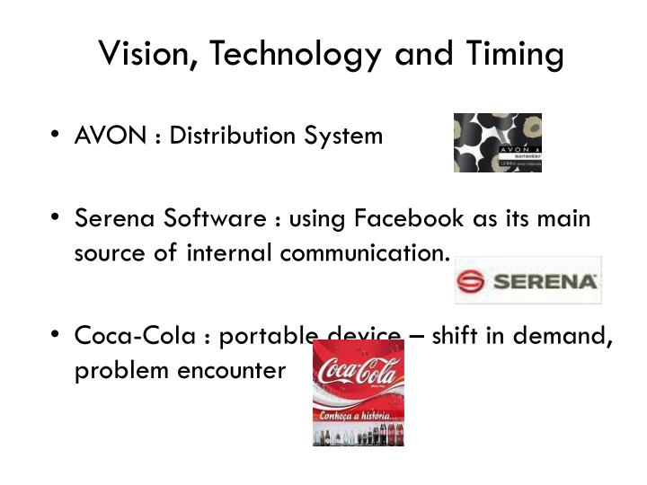 Vision, Technology and Timing
