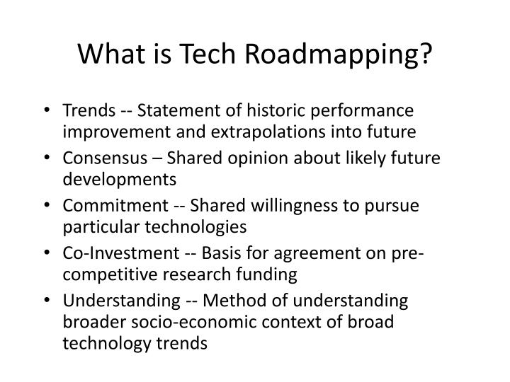 What is Tech Roadmapping?