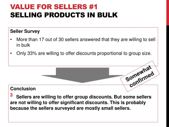 Value for sellers #1