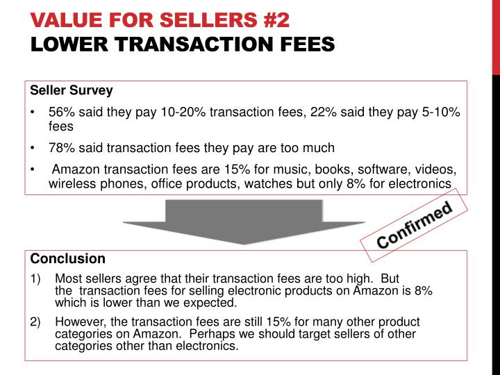 Value for sellers #2