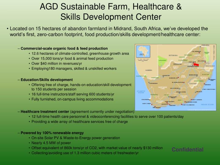 AGD Sustainable Farm, Healthcare &