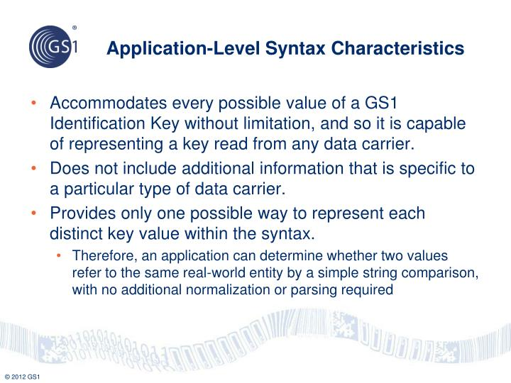 Application-Level Syntax Characteristics