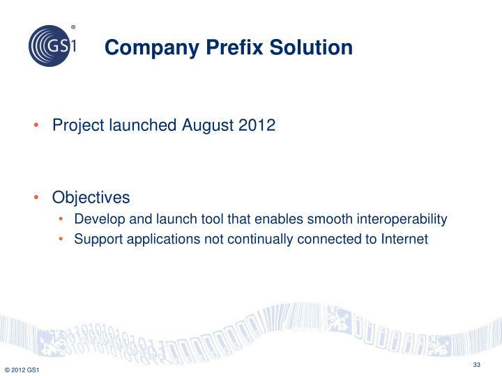 Company Prefix Solution