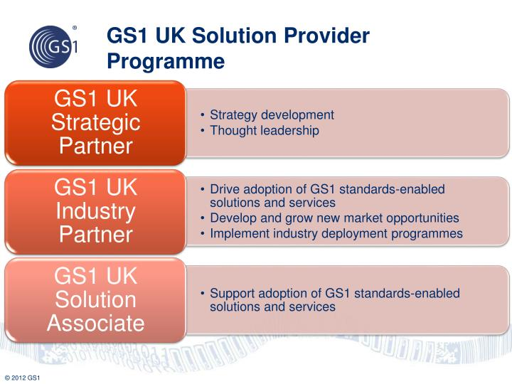 GS1 UK Solution Provider Programme