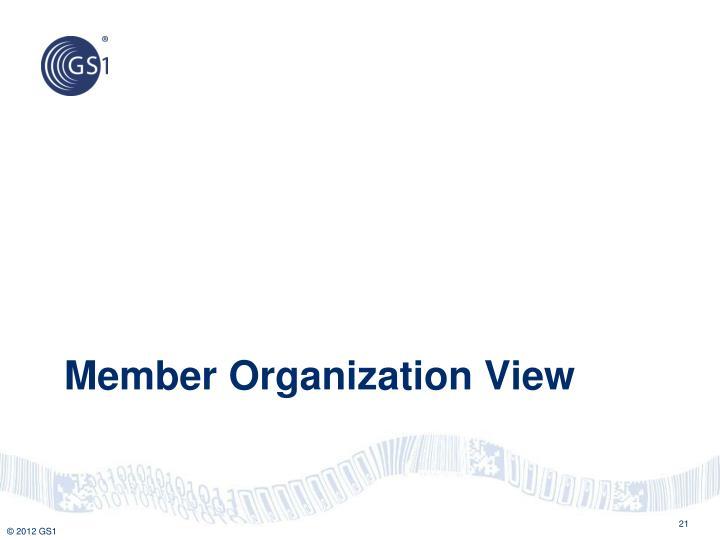 Member Organization View