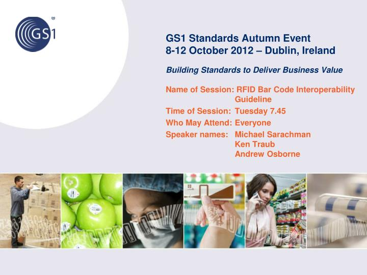 GS1 Standards Autumn Event
