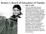brown v board of education of topeka