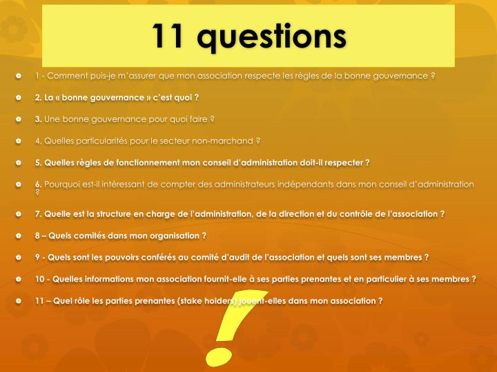 11 questions