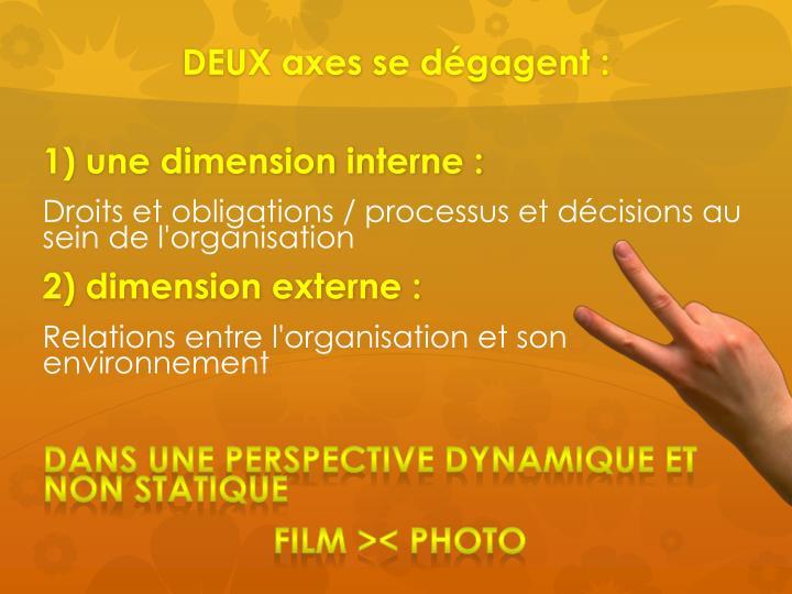 DEUX axes