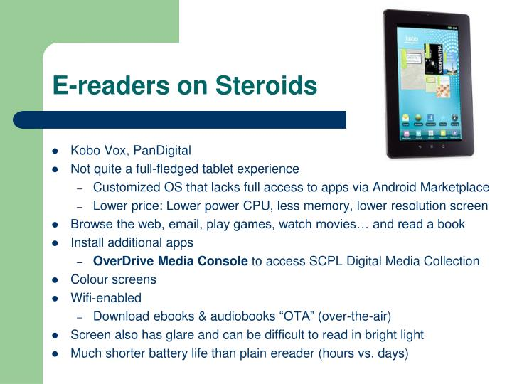 E-readers on Steroids