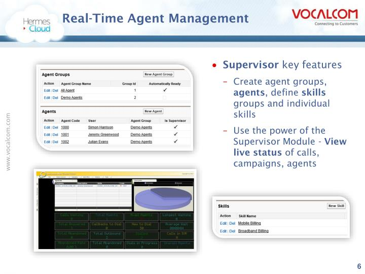 Real-Time Agent Management