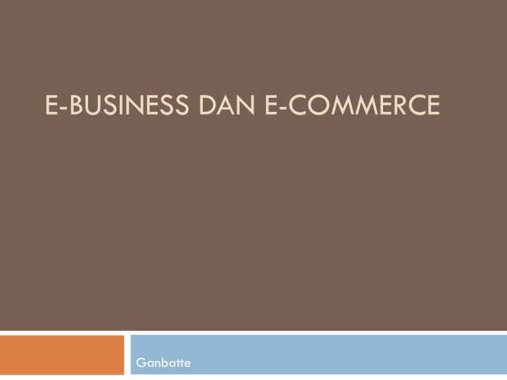 E business dan e commerce