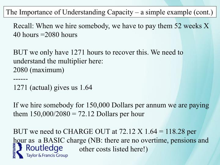 The Importance of Understanding Capacity – a simple example (cont.)